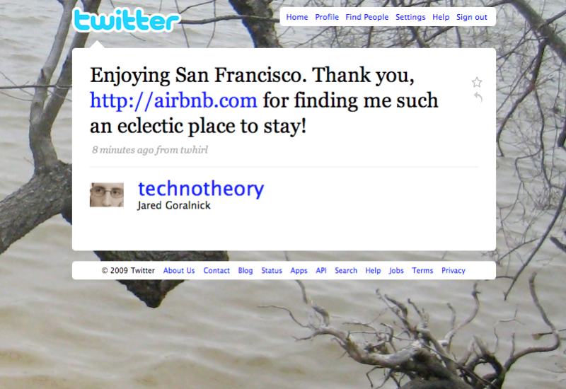Twitter love: thanks @technotheory!