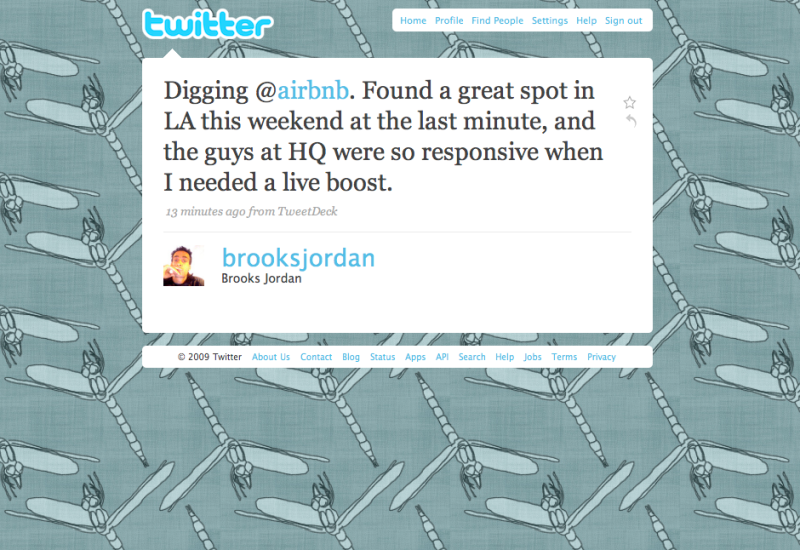 Twitter love: Thanks @brooksjordan!