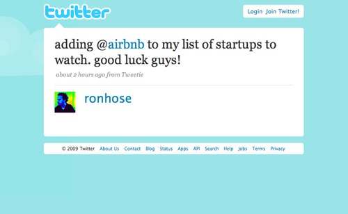 Twitter love: Thanks @ronhose