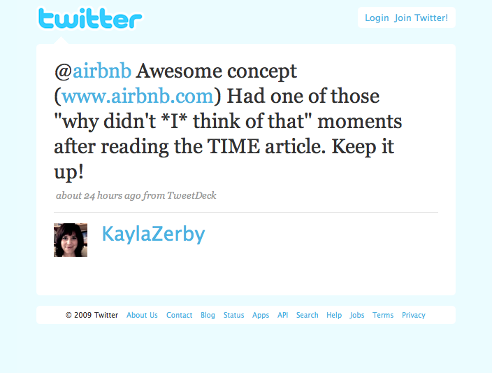 Twitter love: @KaylaZerby We heart you too!