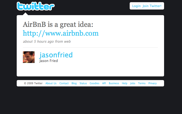 Twitter love @jasonfried