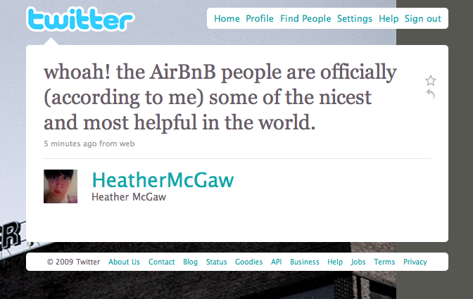 Twitter love: @HeatherMcGaw