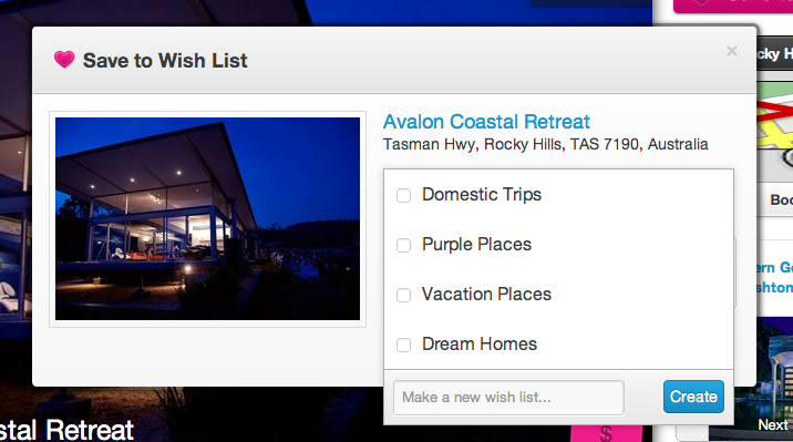 airbnb how to see wish list
