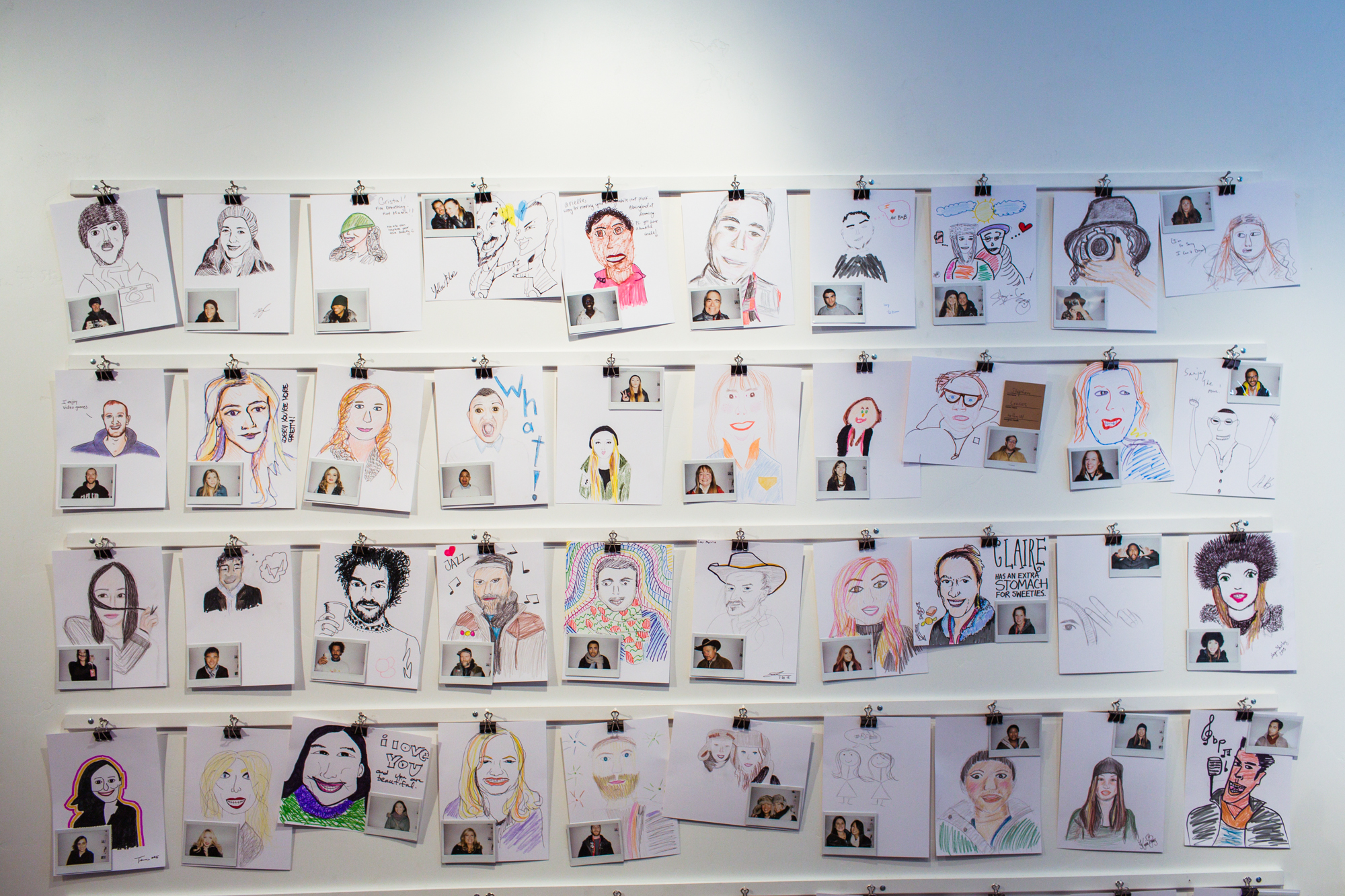 Ivan Cash's Strangers Drawing Strangers exhibit at the Airbnb Haus