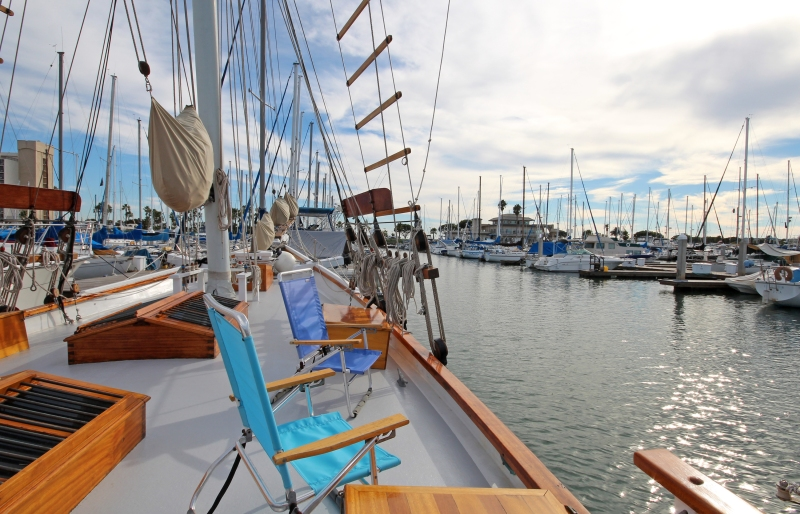 "Romantic 83' ""Pirate Ship"" Schooner in San Diego, California."