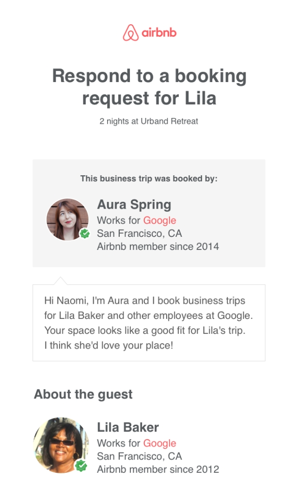 A new way to receive bookings for business travelers – The
