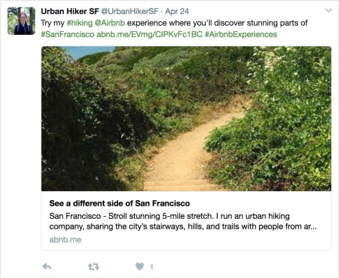 Airbnb Experiences social media urban hiking