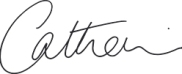 Signature of Catherine Powell, Head of Experiences