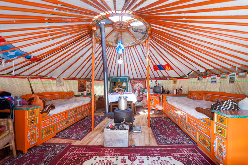 Original Mongolian Yurt In Dresden