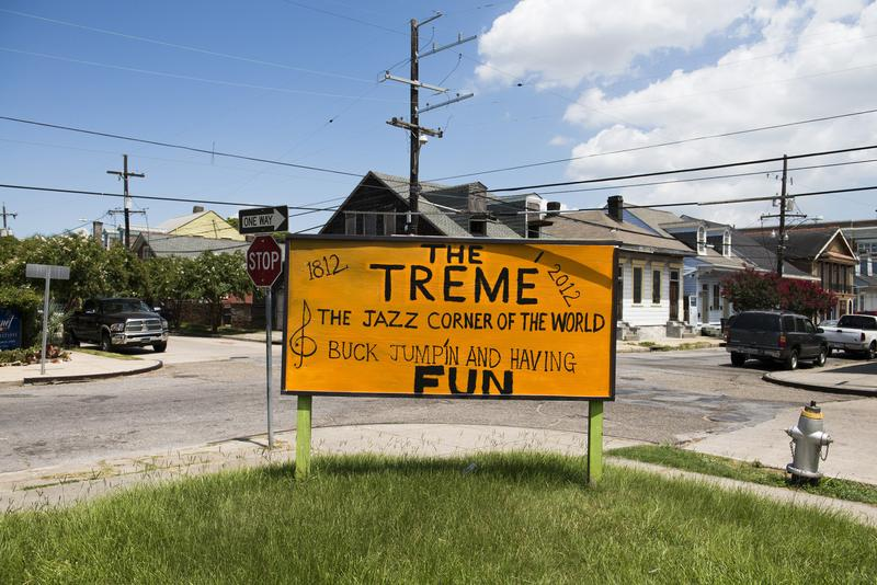Signage reminds vistors of the Treme's rich history.