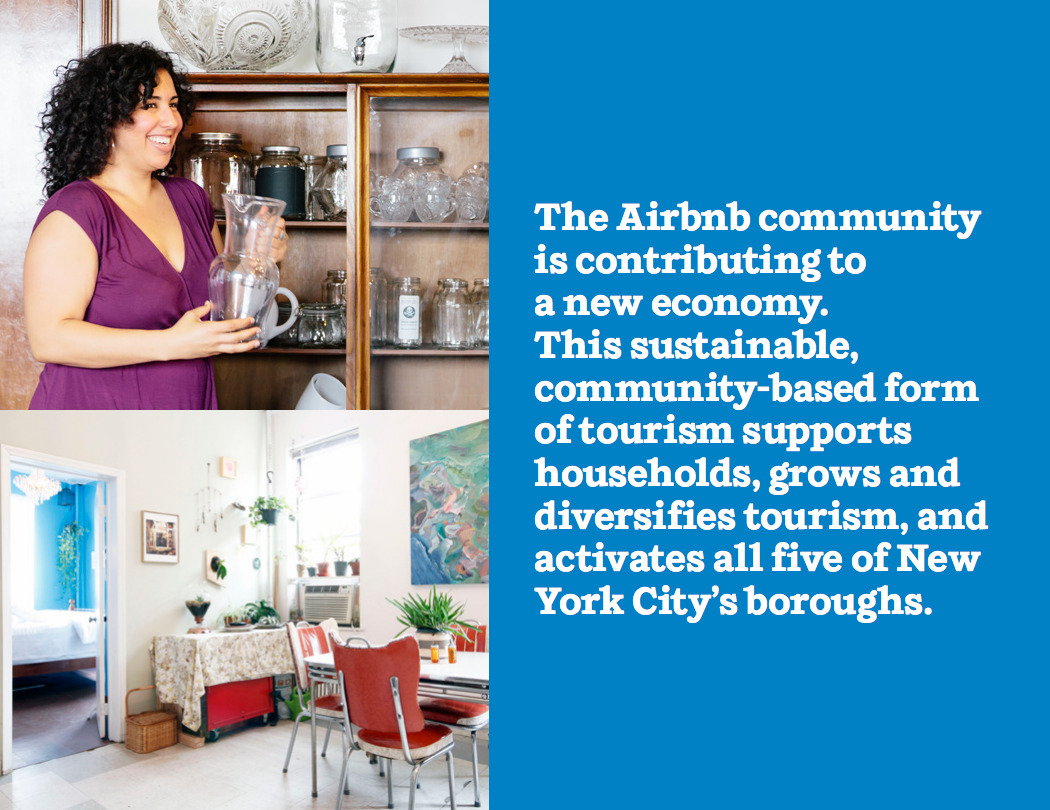 The Airbnb community is contributing to a new economy.