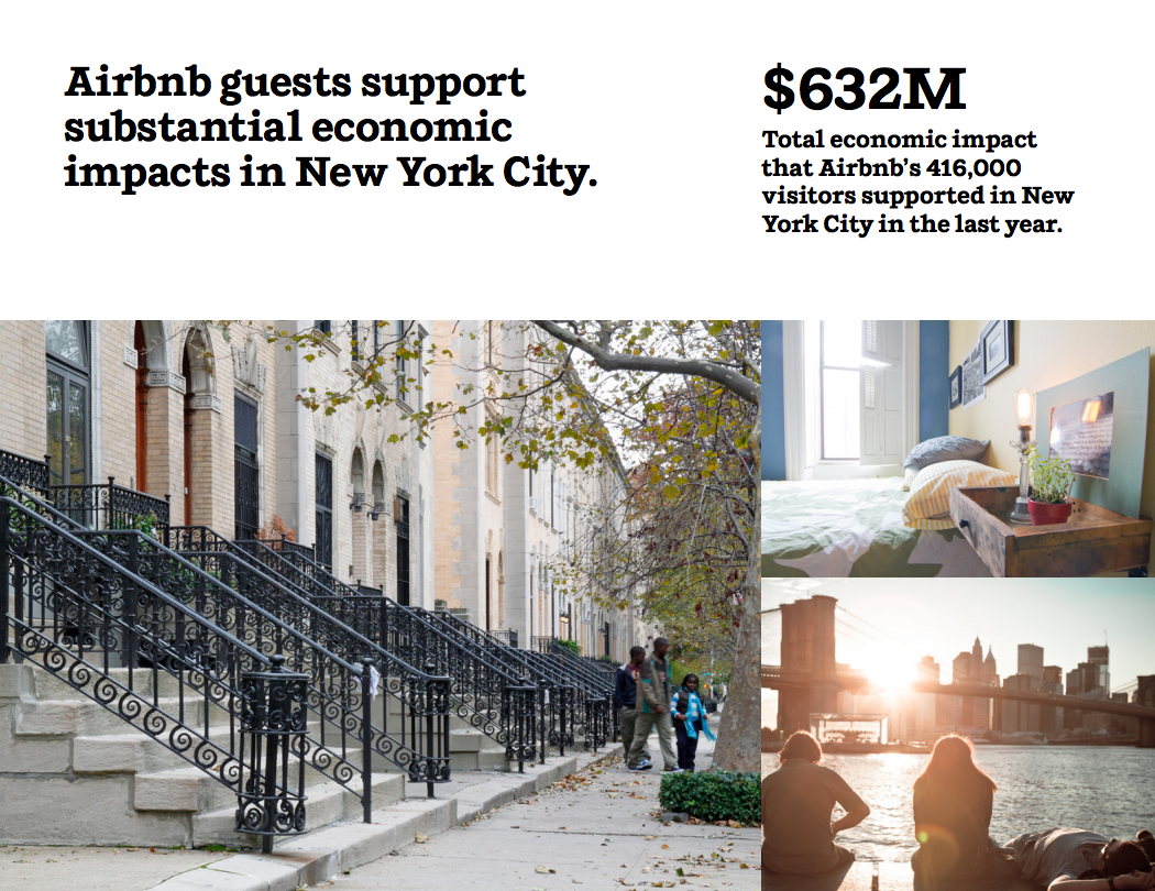Airbnb guests support substantial economic impacts in New York City.