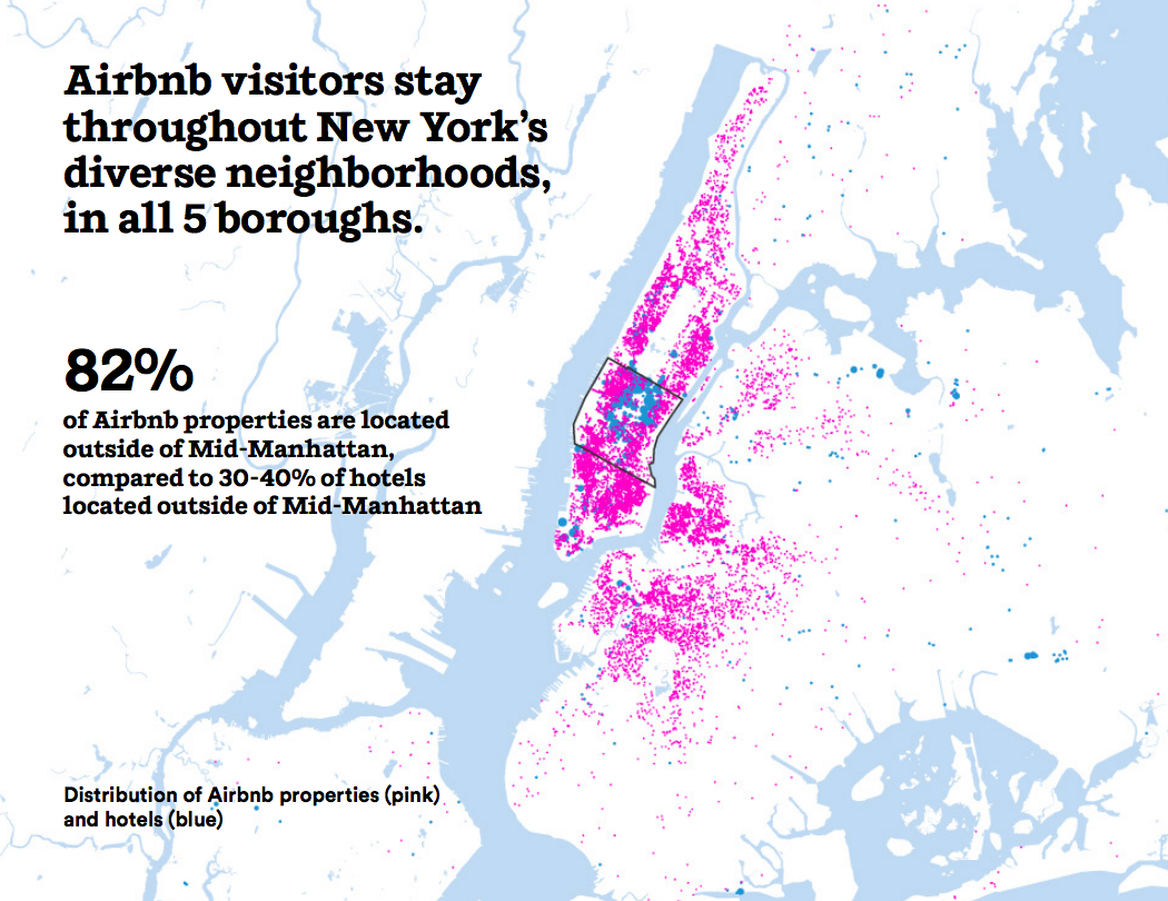 Airbnb visitors stay throughout New York's diverse neighborhoods, in all 5 boroughs.