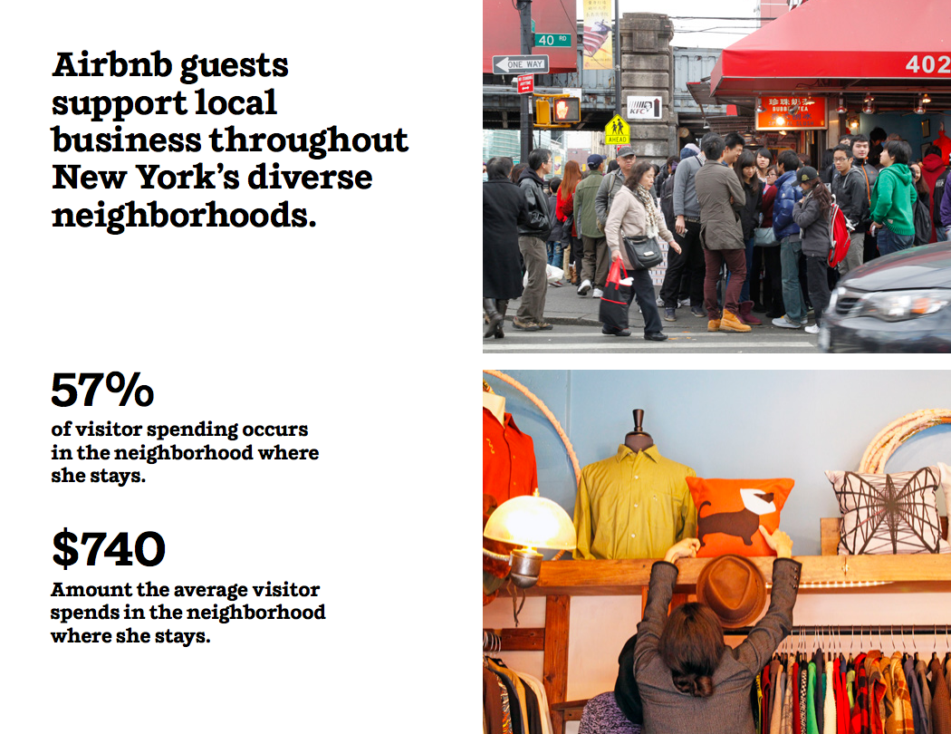 Airbnb guests support local business throughout New York's diverse neighborhoods.