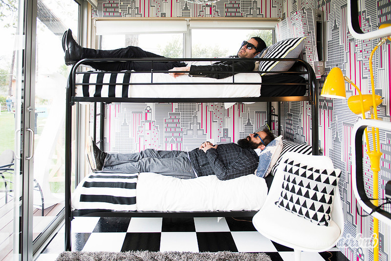 Capital Cities in their custom bunk beds