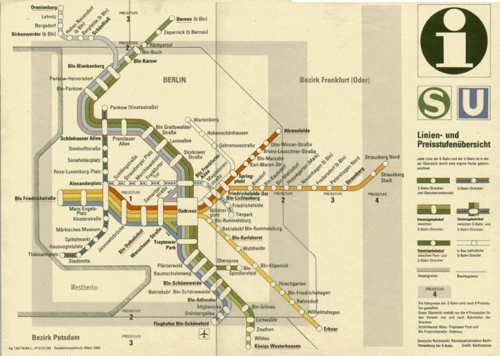 East Berlin transport map