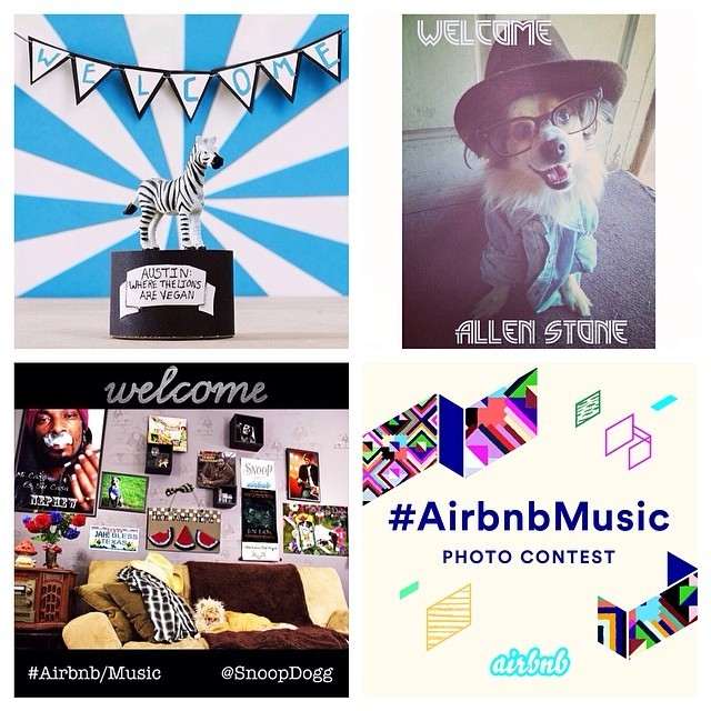 Winners of the #AirbnbMusic Instagram contest