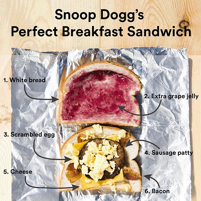 Snoop Dogg's Perfect Breakfast Sandwich