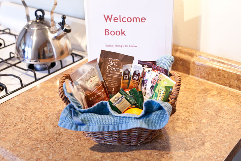 DIY hosting with a welcome basket